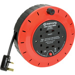 4-Gang Extension Reel with Thermal Cut-Out 10m by Mercury, Part Number 429.872UK