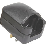 Black SCP3 13A rated Euro converter plug by Mercury, Part Number 429.941UK