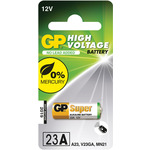 12V (23A) alkaline battery - 1 piece on a Blister by GP Battery, Part Number 656.006UK