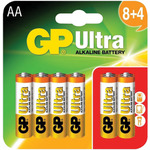 AA GP Ultra Alkaline (8+4) by GP Battery, Part Number 656.012UK