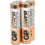 Alkaline batteries, AAA, 1.5V, packed 4/ Blister by GP Battery, Part Number 656.013UK
