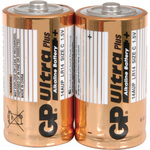 Alkaline batteries, C, 1.5V, packed 2/Blister by GP Battery, Part Number 656.015UK