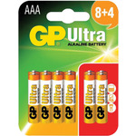 AAA GP Ultra Alkaline (8+4) by GP Battery, Part Number 656.016UK