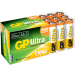 AA 24pk Ultra alkaline batteries in easy store UPVC Box by GP Battery, Part Number 656.022UK