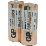 Alkaline batteries, N, 1.5V, packed 2 /Blister by GP Battery, Part Number 656.024UK