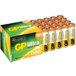 AA 40pk Ultra alkaline batteries in easy store UPVC Box by GP Battery, Part Number 656.025UK