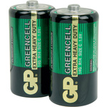 Zinc chloride batteries, C, 1.5V, packed 2 per Blister by GP Battery, Part Number 656.055UK