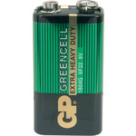 Zinc chloride battery, PP3, 9V, packed 1 per Blister by GP Battery, Part Number 656.060UK