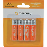 AA 1300mA NiMH battery/4 by Mercury, Part Number 656.120UK