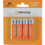 AA 2800mA NiMH battery/4 by Mercury, Part Number 656.126UK