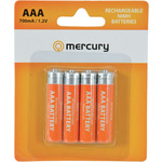 AAA 700mA NiMH battery/4 by Mercury, Part Number 656.128UK