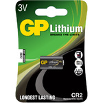 Lithium photo cell, CR2, 3V, packed 1 per Blister - 15.6 x 27mm by GP Battery, Part Number 656.343UK