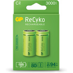 ReCyko+ NiMH Rechargeable Batteries, 2600mAh, 2 X C per Blister by GP Battery, Part Number 656.853UK