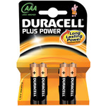 AAA Duracell Plus power - 4 Pack by Duracell, Part Number 656.956UK