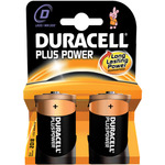 D Duracell Plus power 2 Pack by Duracell, Part Number 656.958UK