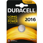 Duracell CR2016 Lithium Coin Cell Battery Card of 1 by Duracell, Part Number 656.992UK