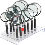 12 piece magnifier set With Stand by Mercury, Part Number 700.071UK
