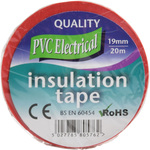 PVC20R Electrical insulation tape, 20m, red by ultratape, Part Number 710.308UK
