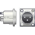 Neutrik, 3pin XLR chassis socket - solder terminals by Neutrik, Part Number 762.396UK