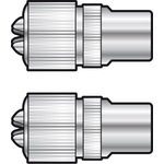 MA13BL Nickel plated precision coaxial plug - 2 per Blister by avlink, Part Number 765.739UK