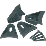 Set of 4 Plastic speaker clamps, With wood screws by QTX, Part Number 900.957UK