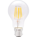 Standard GLS Filament Lamp 6W LED B22 WW by lyyt, Part Number 997.974UK
