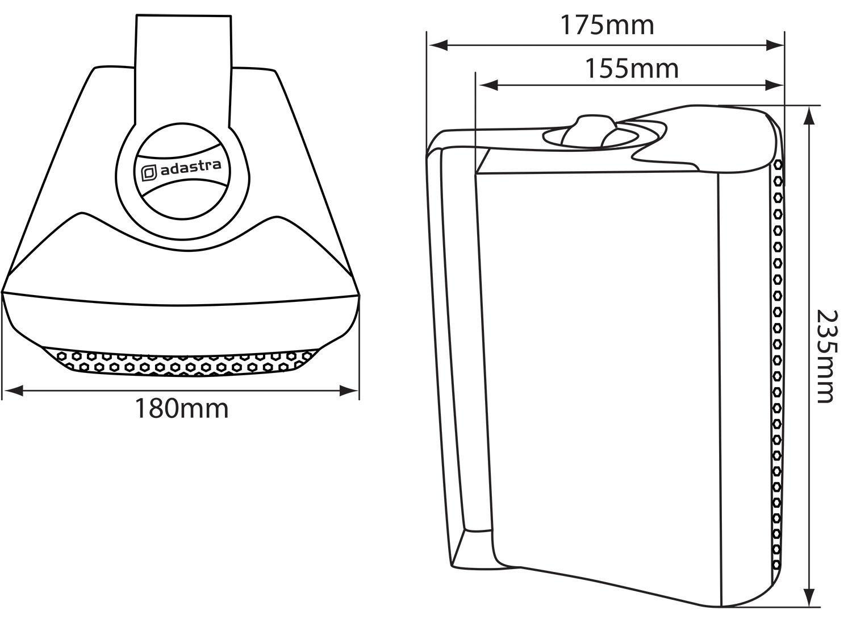 5-25-034-2-Wege-Kompakt-Stereo-HiFi-Lautsprecher-90W-Paar-Home-Mini-Wandhalterung-ABS Indexbild 7