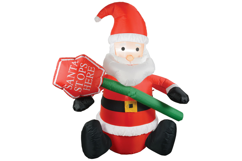 Inflatable Christmas Santa Claus Air blown Decoration Present LED ...