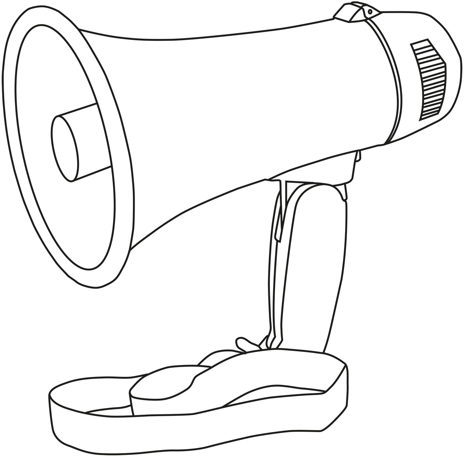 megaphone 10w pistol grip loud speaker siren hailer very