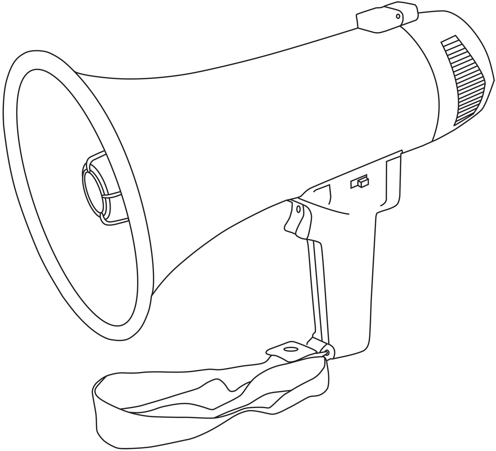 portable megaphone 10w pistol grip loud speaker siren